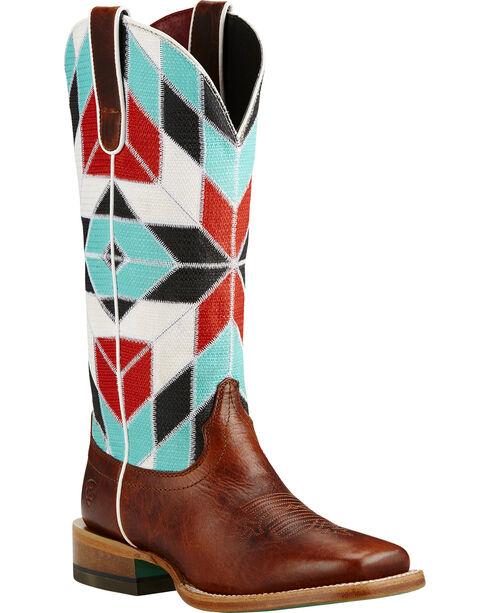 Ariat Mirada Caliche Cowgirl Boots - Square Toe, Brown, hi-res