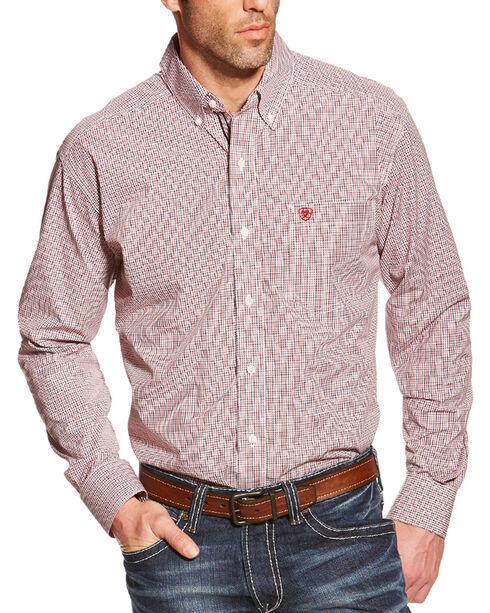 Ariat Men's Thompson Pro Series Long Sleeve Shirt, Black, hi-res