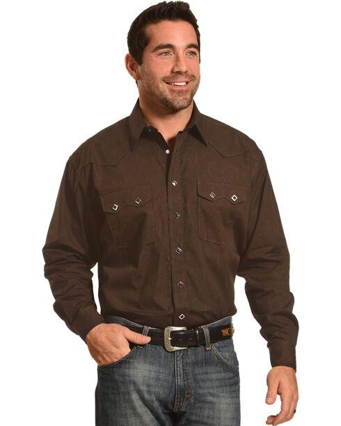 Panhandle Men's Black Diamond Snap Shirt , Black, hi-res