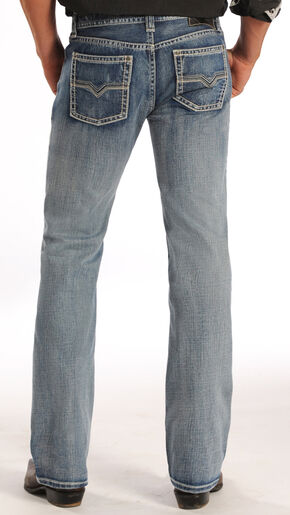 "Rock and Roll Cowboy Pistol Simple ""V"" Jeans - Straight Leg , Denim, hi-res"