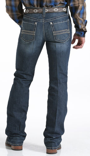 Cinch Men's Ian Dark Stonewash Slim Fit Jeans - Boot Cut  , Indigo, hi-res