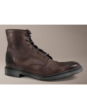 Frye James Lace Up Antique Boots, Brown, hi-res