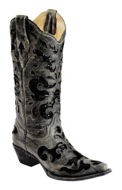 Corral Crater Sequins Inlay Cowgirl Boots - Snip Toe, , hi-res
