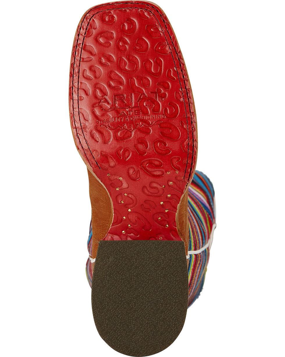 Ariat Gringa Natural Lizard Print Cowgirl Boots - Square Toe, Tan, hi-res
