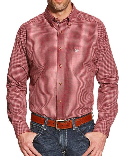 Ariat Men's Pensford Performance Long Sleeve Shirt, Red, hi-res