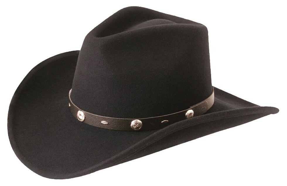 Silverado Crushable Wool Felt Hat, Black, hi-res