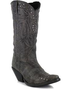 Durango Womens Crush Punk Studded Western Boots - Snip Toe, Black, hi-res