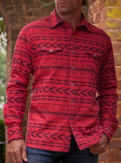Ryan Michael  Men's Red Beacon Blanket Shirt , , hi-res