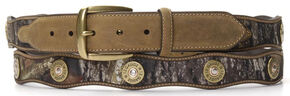 Nocona Scalloped Mossy Oak Bullet Concho Belt - Large, Mossy Oak, hi-res