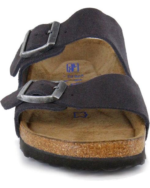 Birkenstock Women's Arizona Soft Suede Grey Sandals, Grey, hi-res