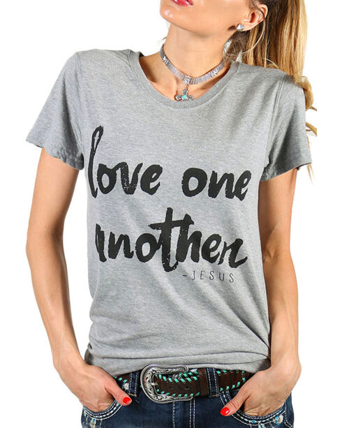 Grace & Truth Women's Love One Another T-Shirt, Grey, hi-res