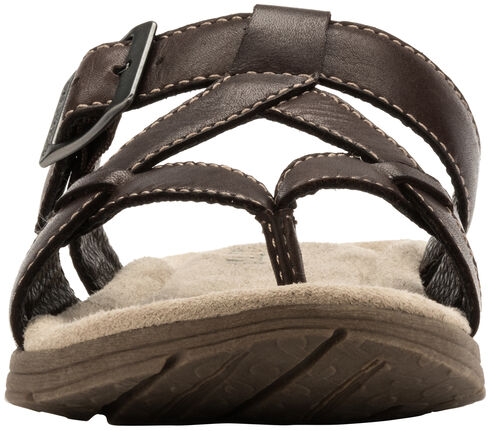 Eastland Women's Brown Pearl Thong Sandals, Brown, hi-res