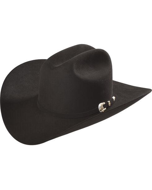 Larry Mahan Black Imperial 1000X Felt Hat , Black, hi-res