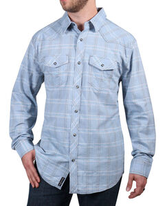 Moonshine Spirit Men's El Cortez Plaid Long Sleeve Shirt, Light/pastel Blue, hi-res