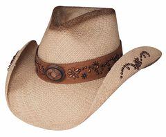 Bullhide More Than A Memory Panama Straw Cowgirl Hat, Natural, hi-res
