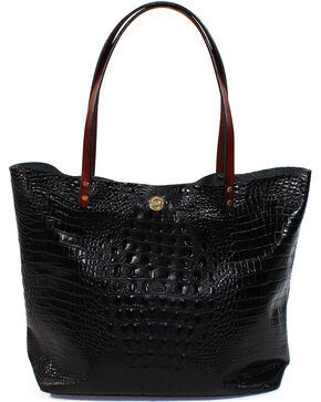 SouthLife Supply Women's Black Croc Square Tote, Black, hi-res