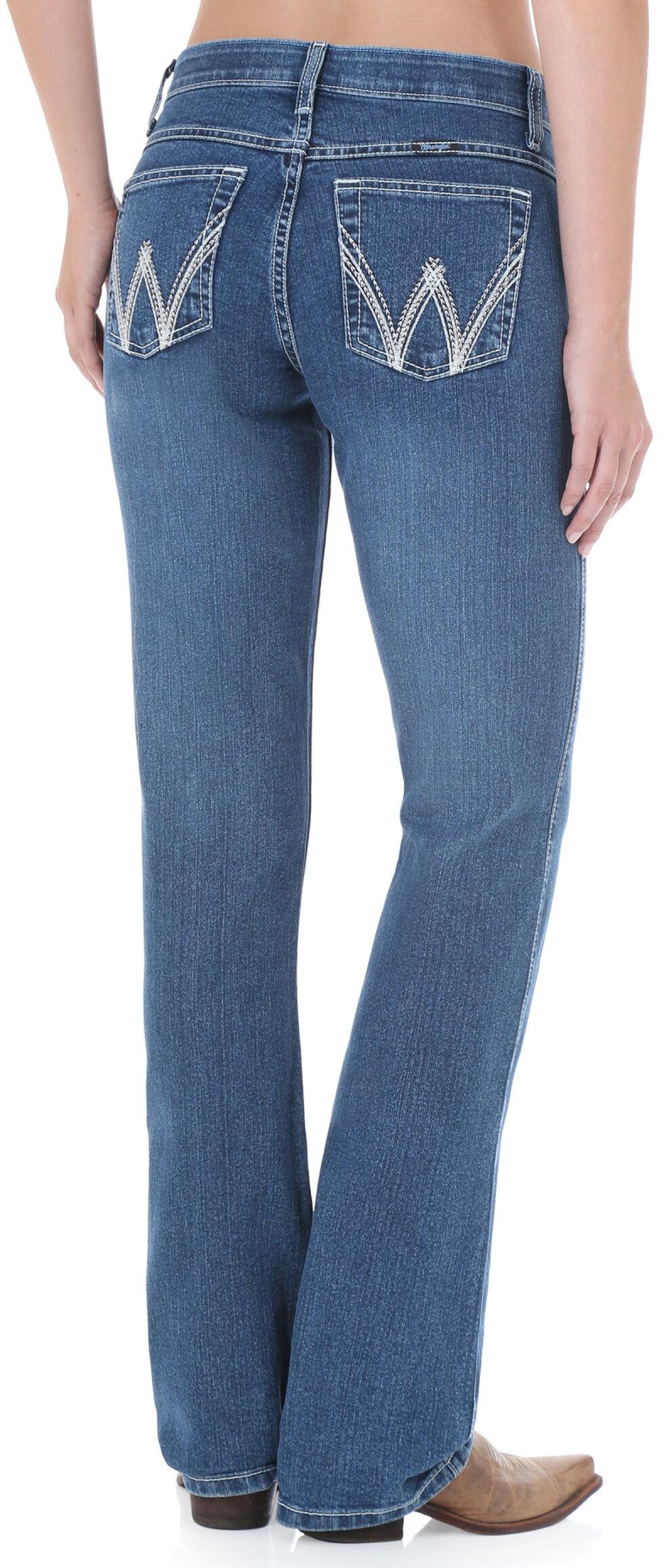 Wrangler Women's Medium Wash Cool Vantage Ultimate Riding Q-Baby Jeans, Denim, hi-res