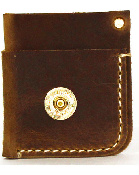 SouthLife Supply Men's Mason Aged Bourbon Front Pocket Card Holder, Brown, hi-res