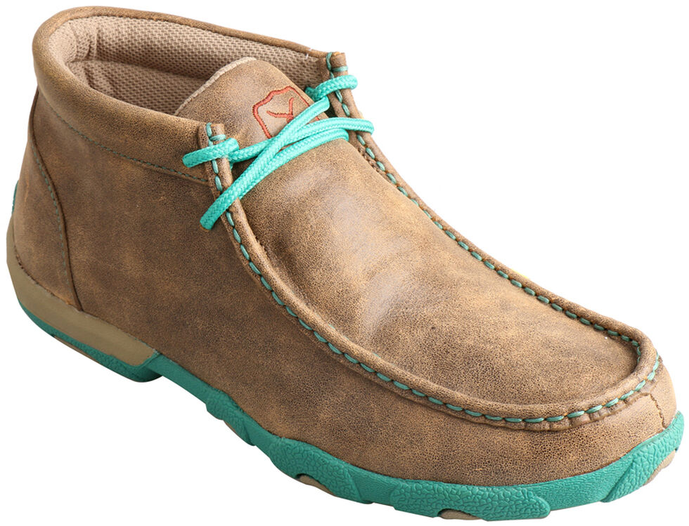 Twisted X  Women's Turquoise Driving Mocs, Bomber, hi-res