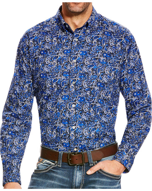 Ariat Men's Busby Classic Paisley Print Button Down Shirt, Multi, hi-res