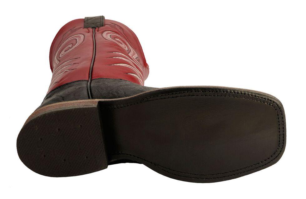 Justin Bent Rail Cowboy Boots - Wide Square Toe, Black, hi-res