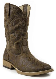 Roper Men's Distressed Broad Boots - Square Toe, , hi-res