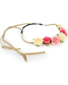 Shyanne Women's Pink Rose Headband , Pink, hi-res