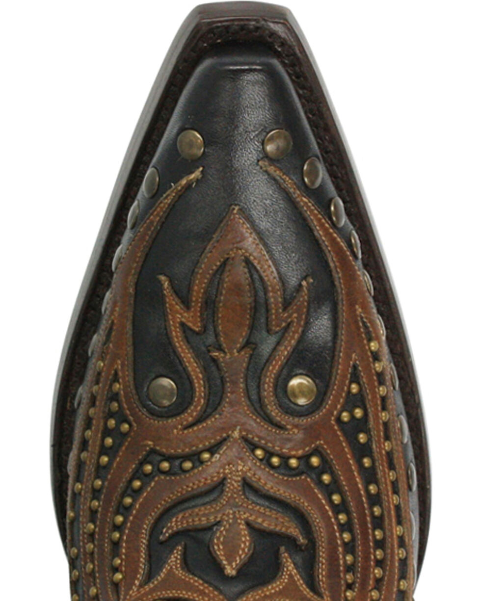 Corral Women's Tall Top Inlay and Stud Cowgirl Boots - Snip Toe, Brown, hi-res