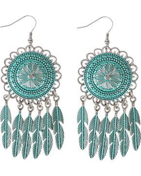 Shyanne Women's Dream Catcher Feather Earrings , Silver, hi-res