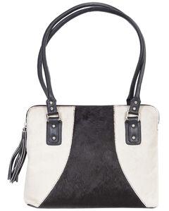Scully Black & White Hair-on-Hide Shoulder Bag, , hi-res