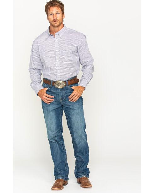 Cody James Men's Frisco Diamond Patterned Long Sleeve Shirt, Blue, hi-res