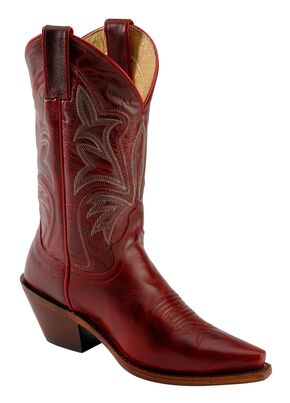Justin Red Torino Cowgirl Boots - Snip Toe, Red, hi-res