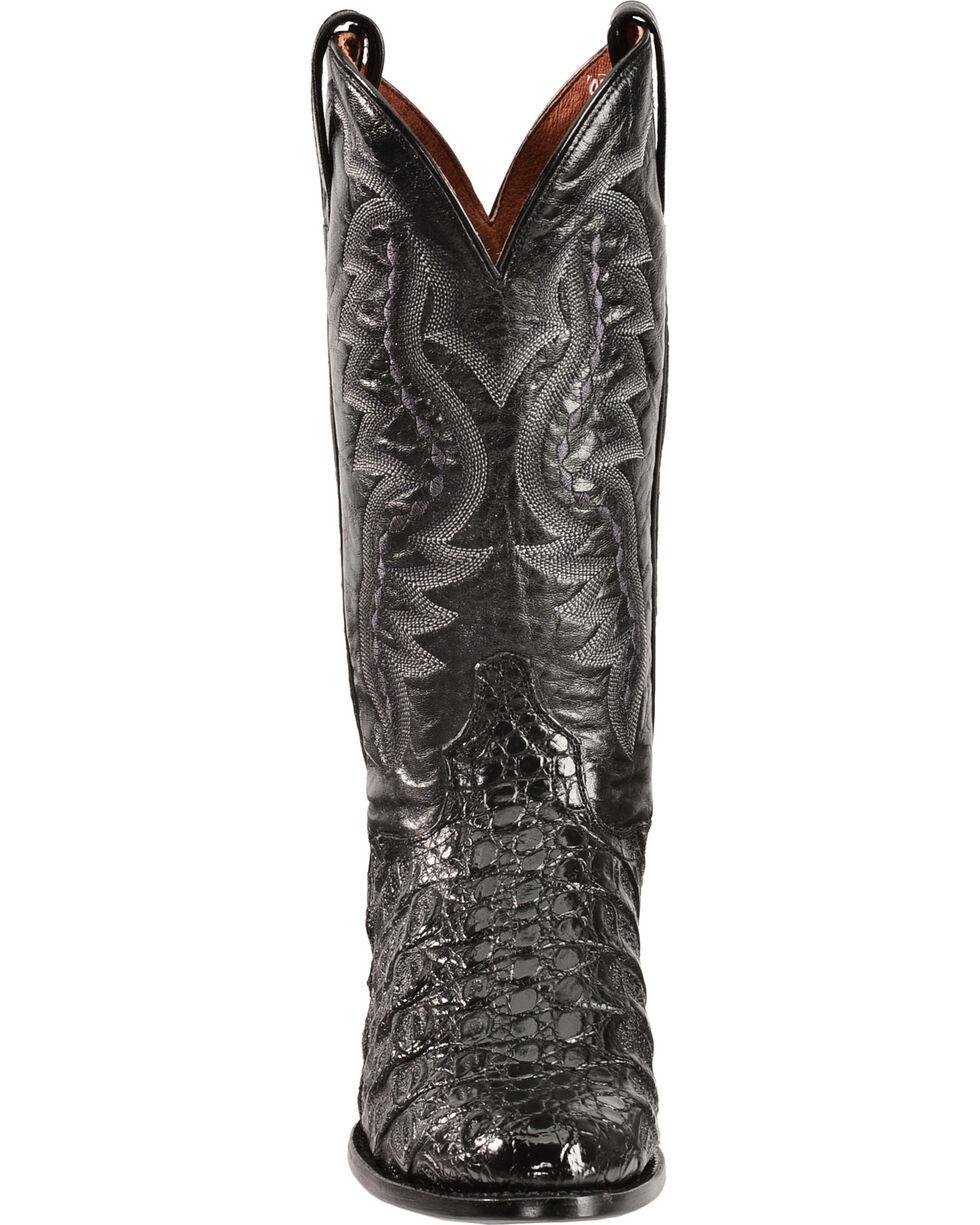 Dan Post Flank Caiman Cowboy Boots, Black, hi-res