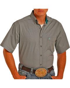 Tuf Cooper Men's Grey Short Sleeve Shirt , Grey, hi-res