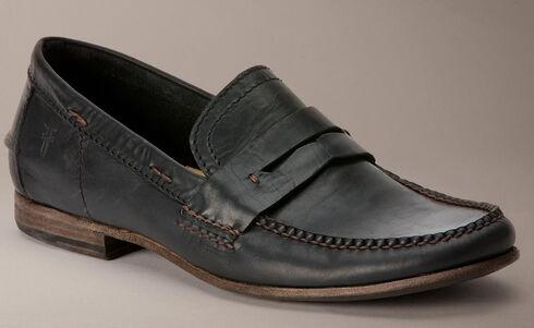Frye Lewis Leather Penny Loafers, Black, hi-res