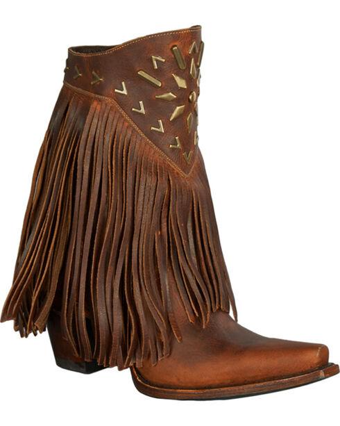 Lane Fringe It Cowgirl Boots - Snip Toe , Brown, hi-res