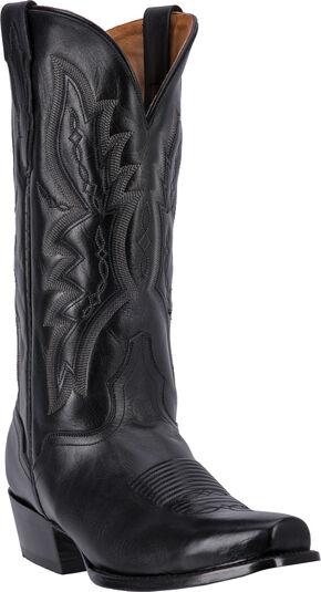 El Dorado Vanquished Calf Cowboy Boots - Square Toe, Black, hi-res