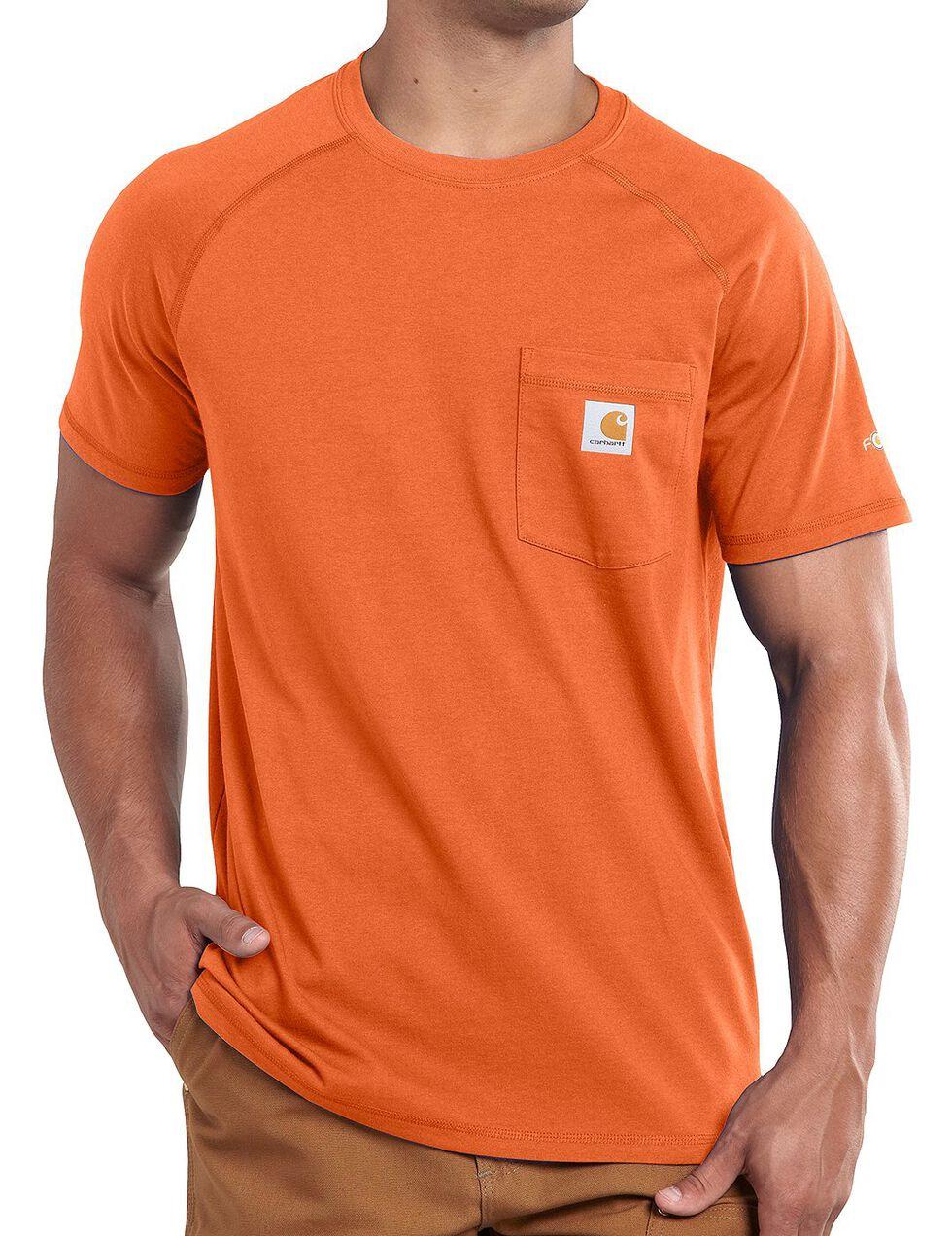 Carhartt Force Cotton Short Sleeve Shirt, Orange, hi-res