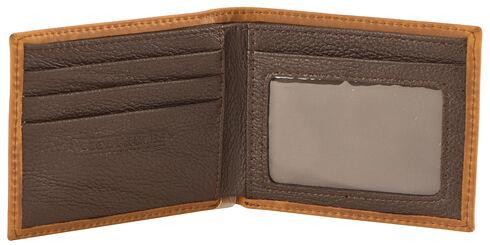 Cody James Men's Western Stitched Wallet, Brown, hi-res