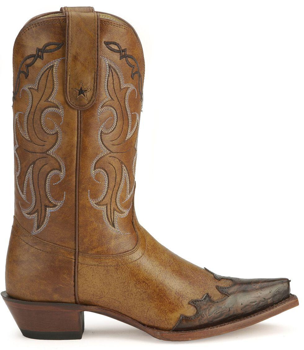 Tony Lama 100% Vaquero Western Cowgirl Boots - Snip Toe, Tan, hi-res