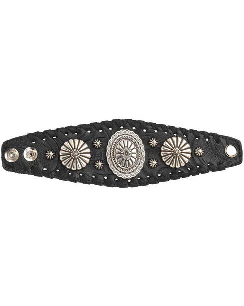 American West Women's Black Wide Cuff Bracelet , Black, hi-res