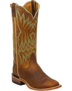 Tony Lama Soft Honey Americana Cowgirl Boots - Square Toe, , hi-res