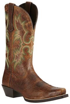 Ariat Men's Brown Dress Tombstone Boots - Snip Toe, Brown, hi-res