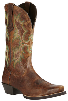 Ariat Men's Brown Dress Tombstone Boots - Snip Toe, Brown, hi-res