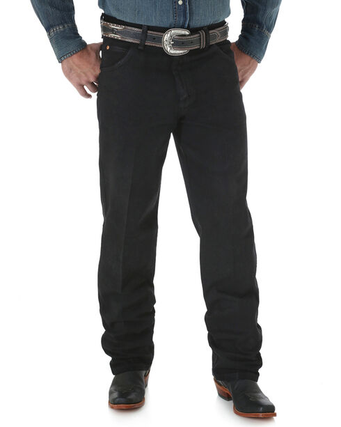 Wrangler Men's Black Cowboy Cut Relaxed Fit Jeans - Bit , , hi-res