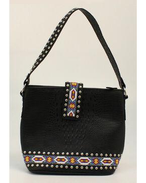 Blazin Roxx Bead Ribbon Black Shoulder Bag, Black, hi-res