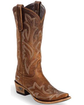 Lane Women's Saratoga Tan Cowgirl Boots - Snip Toe , Brown, hi-res
