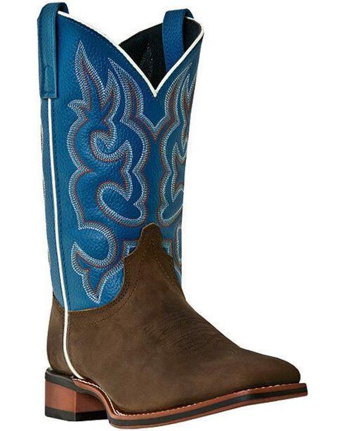 Laredo Basic Stockman Cowboy Boots - Square Toe, Dark Brown, hi-res