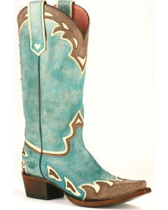 Junk Gypsy by Lane Women's Turquoise Back 40 Western Boots - Snip Toe , , hi-res