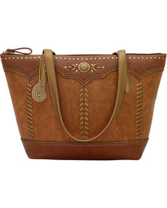 Bandana by American West Grand Junction Zip Top Tote w/Outside Pkts, Golden Tan, hi-res